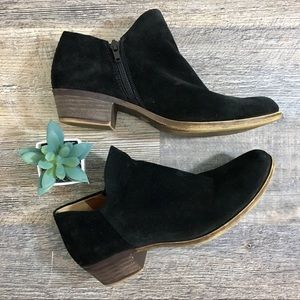 Lucky Brand Black Zip Up Ankle Booties